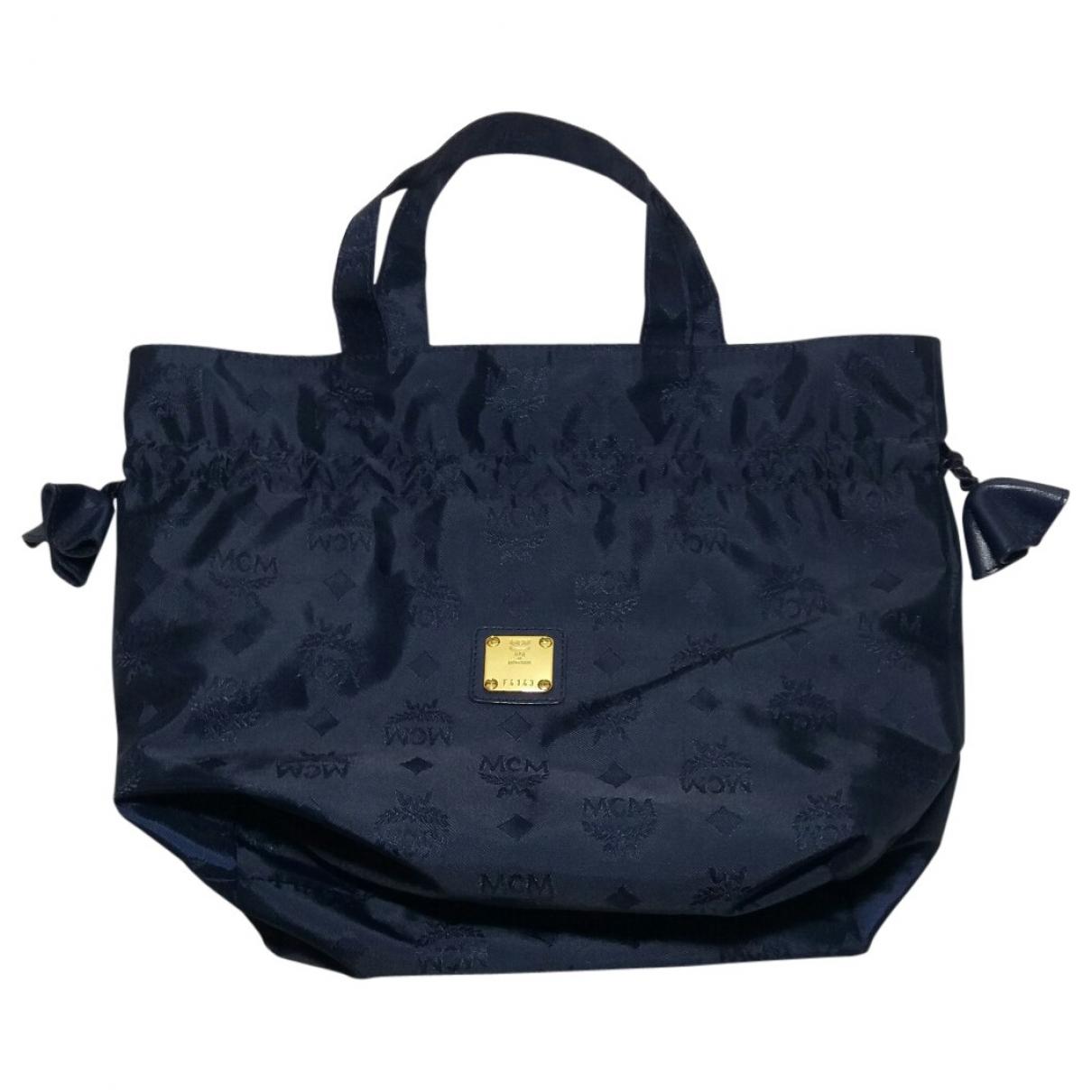 Mcm \N Navy handbag for Women \N