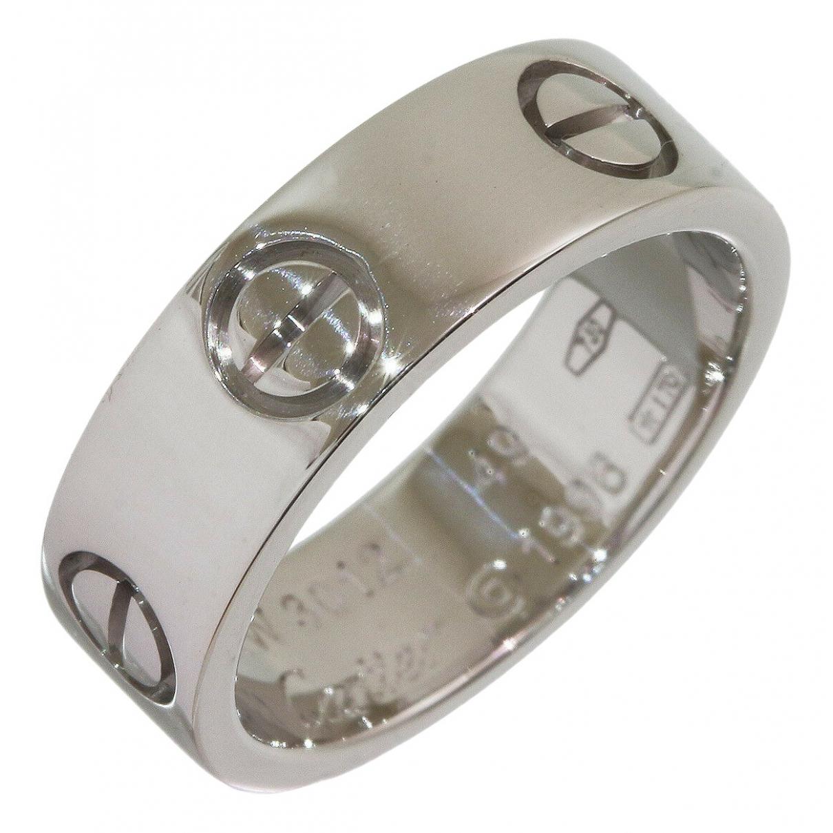 Cartier - Bague Love pour femme en or blanc