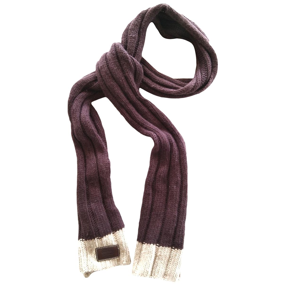 Coach \N Brown Wool scarf for Women \N