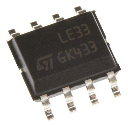 STMicroelectronics LE33CD-TR, LDO Regulator, 100mA, 3.3 V, ±2% 8-Pin, SOIC (10)