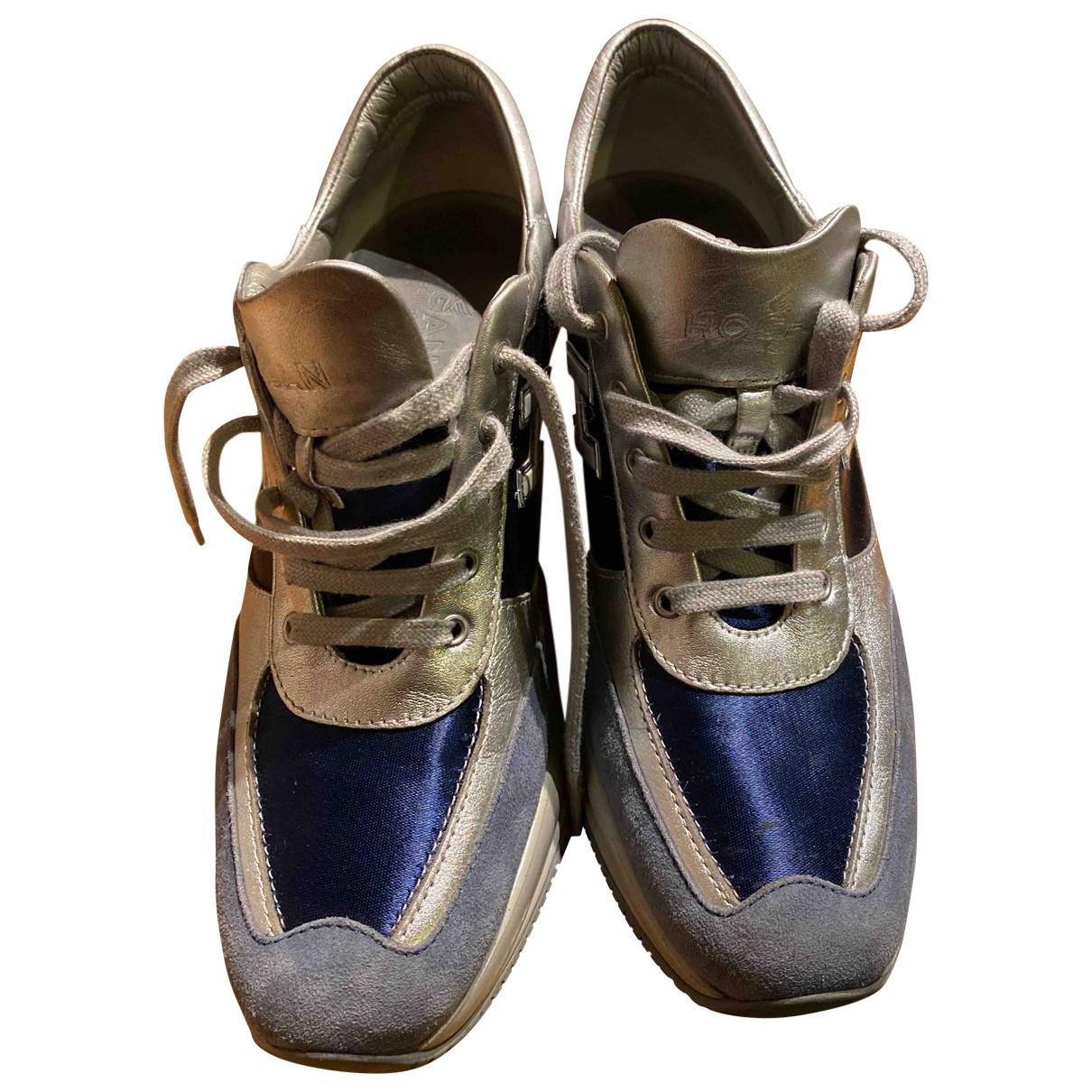 Hogan \N Sneakers in  Blau Leinen