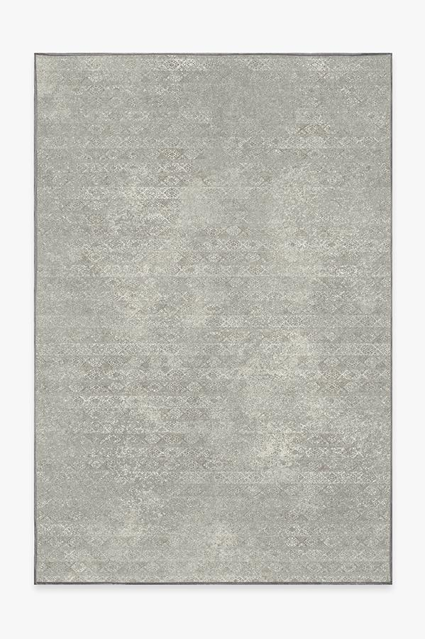 Washable Rug Cover & Pad | Gabbeh Grey Rug | Stain-Resistant | Ruggable | 6'x9'