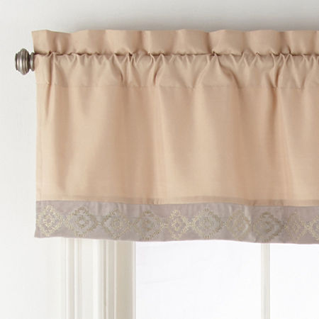 JCPenney Home Mercer Rod-Pocket Tailored Valance, One Size , Multiple Colors