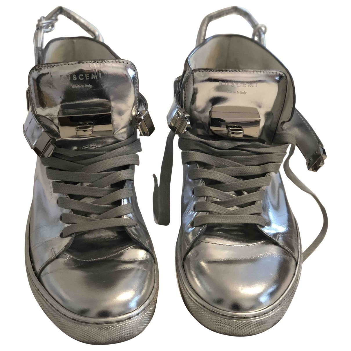 Buscemi \N Silver Leather Trainers for Women 42 EU