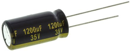 Panasonic 1200μF Electrolytic Capacitor 35V dc, Through Hole - EEUFK1V122 (5)