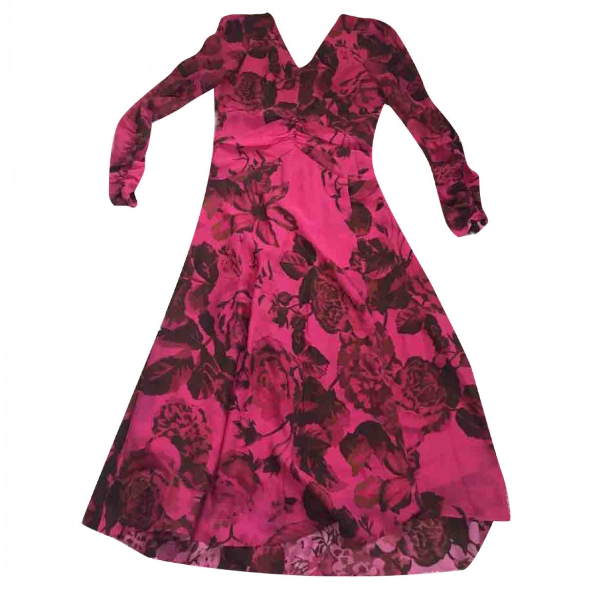 Hm Conscious Exclusive - Robe   pour femme en soie - rose