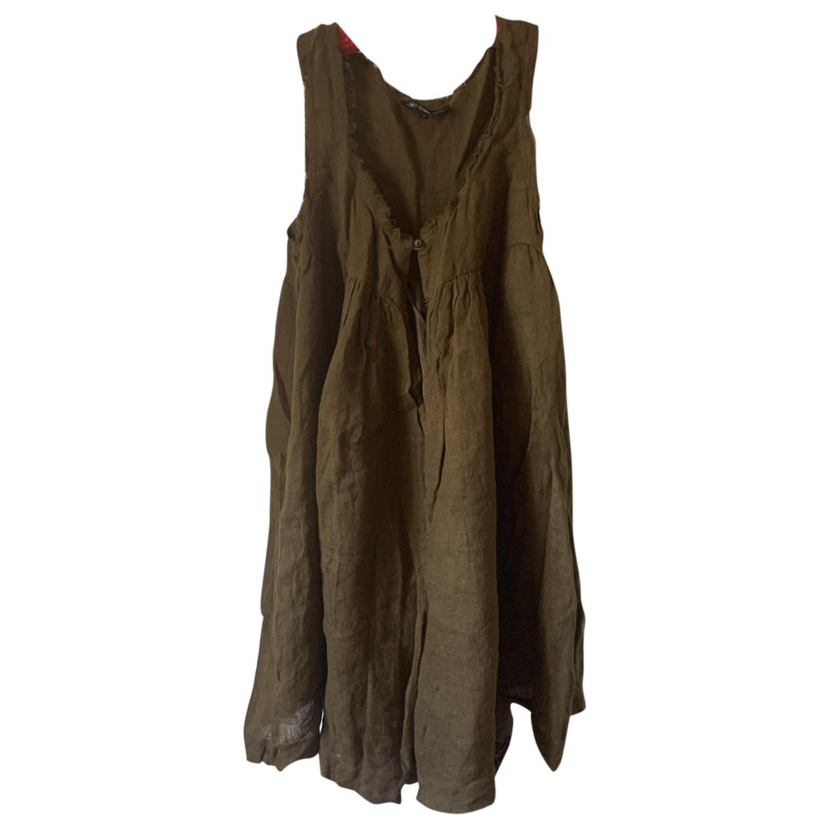 Isabel Marant Etoile \N Khaki Linen jumpsuit for Women 1 US