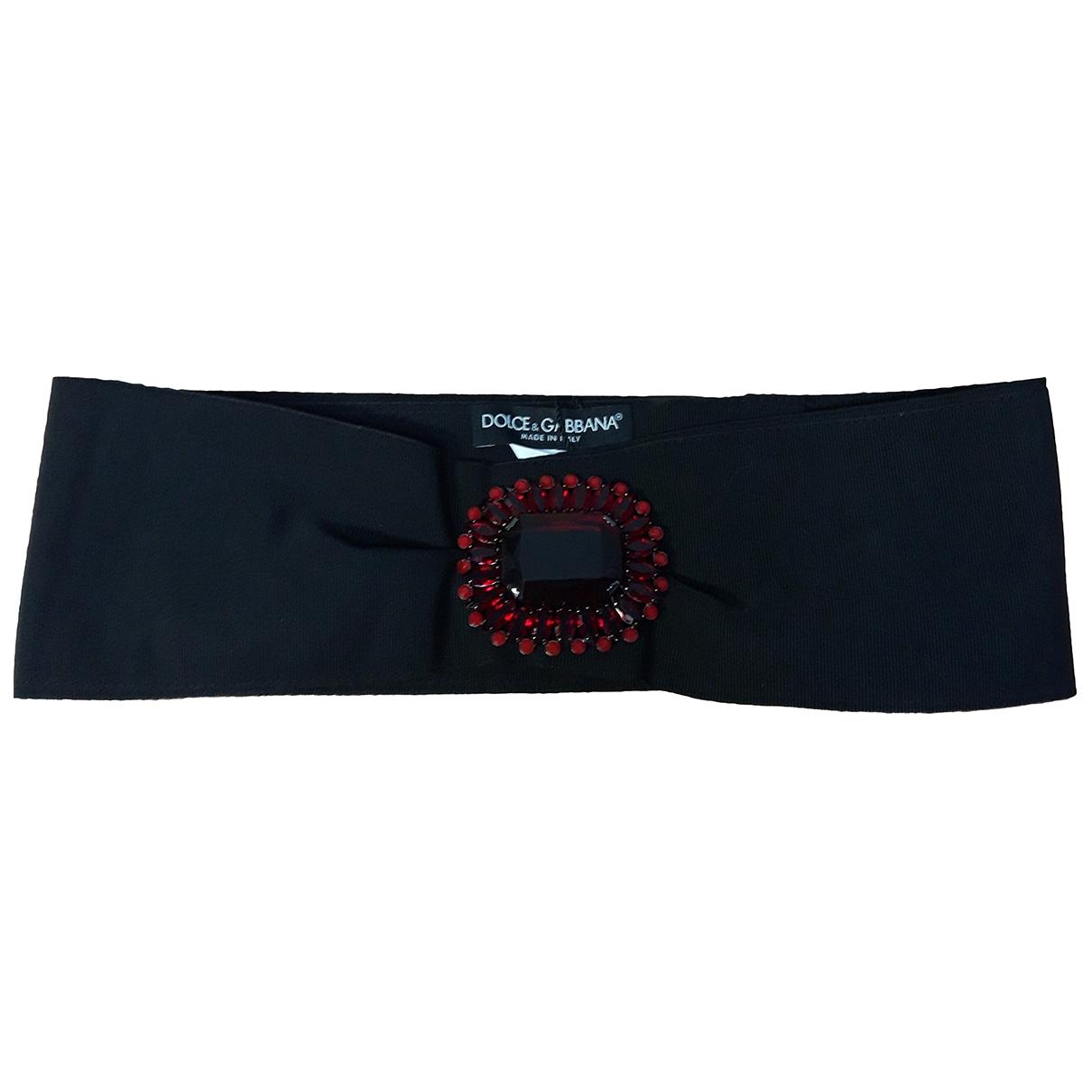 Dolce & Gabbana \N Guertel in  Schwarz Baumwolle