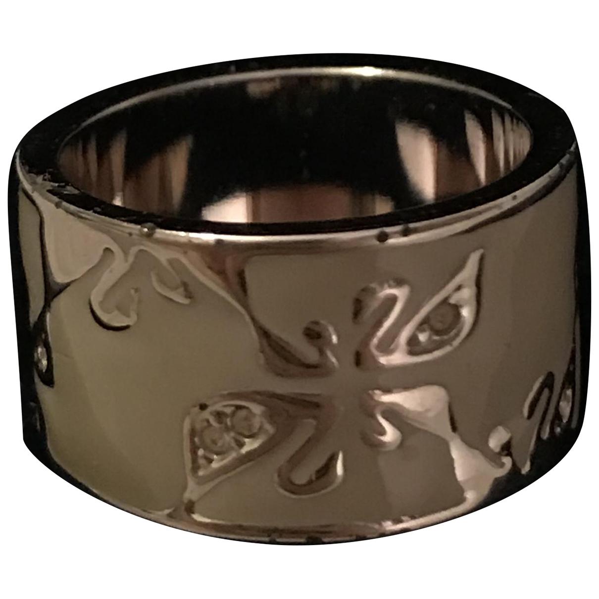 Swarovski \N Ring in  Ecru Silber