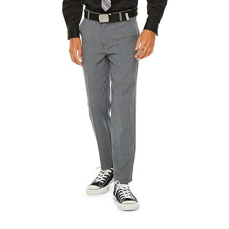 Van Heusen Little & Big Boys Suit Pants, 14 Husky , Black