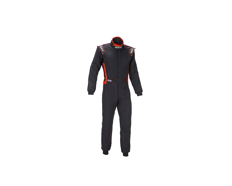 Sparco 001129HB54NRRS Victory RS-4 Boot Cuff Black and Red Racing Suit 54 | M