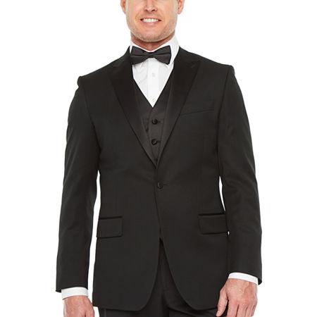 Stafford Travel Mens Classic Fit Tuxedo Jacket, 46 Long, Black
