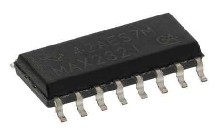 Texas Instruments MAX232ID, Line Transceiver, RS-232 2-TX 2-RX, 5 V, 16-Pin SOIC (40)