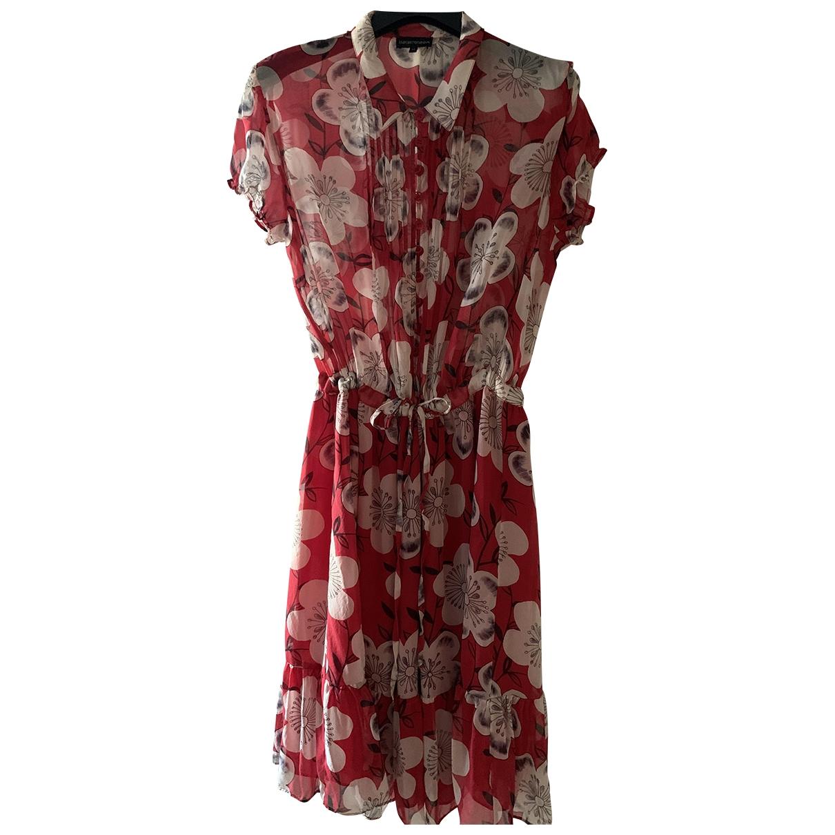 Emporio Armani \N Kleid in  Rot Seide
