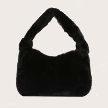 Faux Fur Baguette Bag