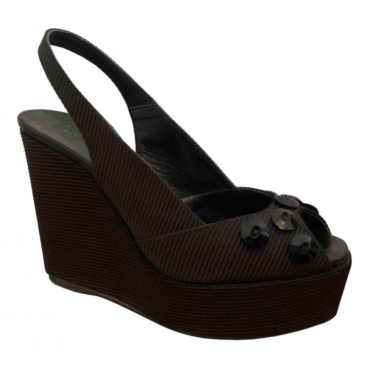 Castaner N Black Cloth Sandals for Women 39 EU