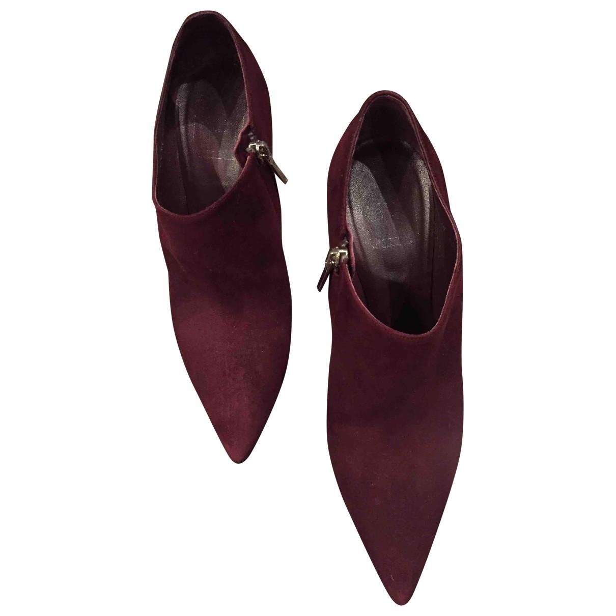Dior \N Stiefel in  Bordeauxrot Veloursleder