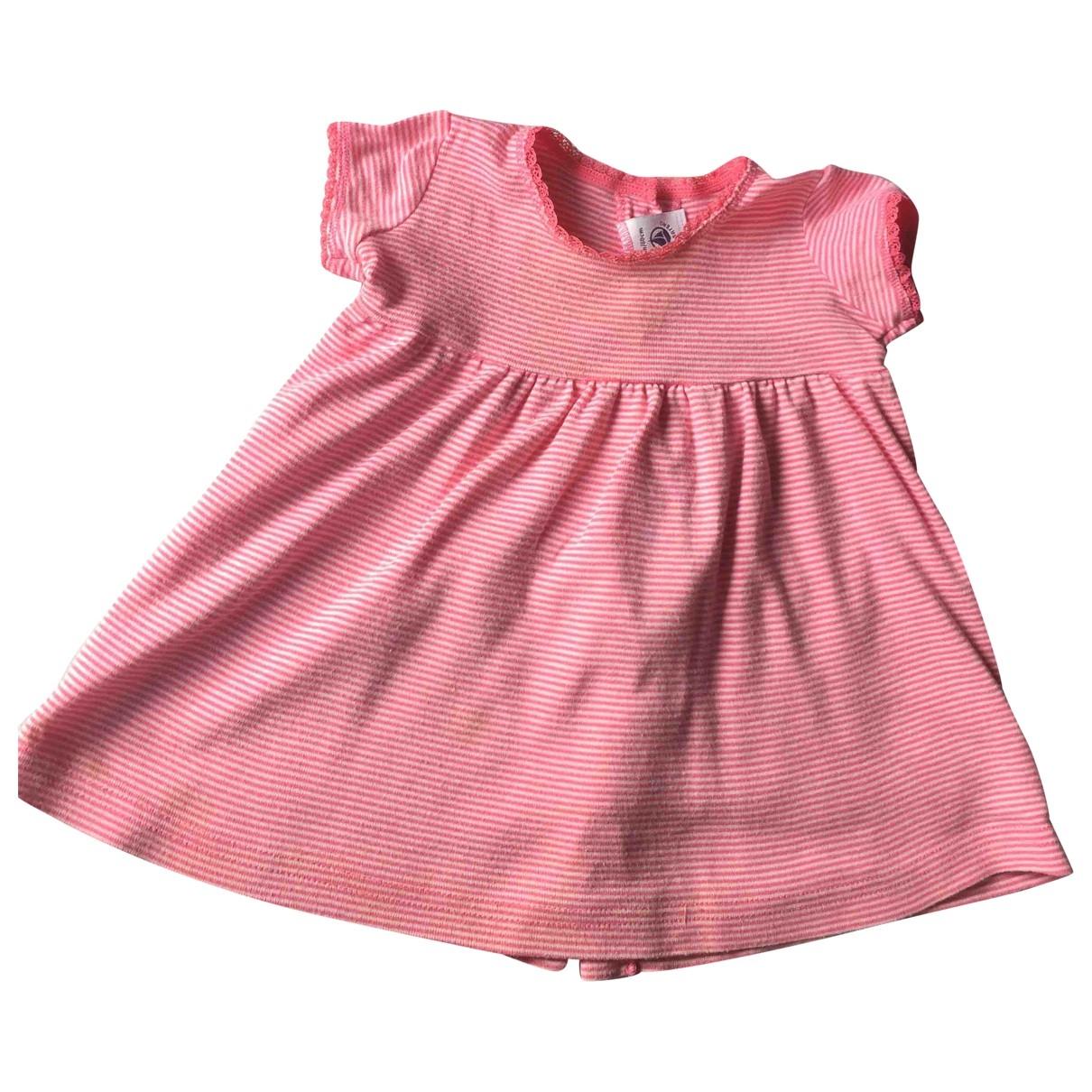 Petit Bateau - Robe    pour enfant en coton - rose