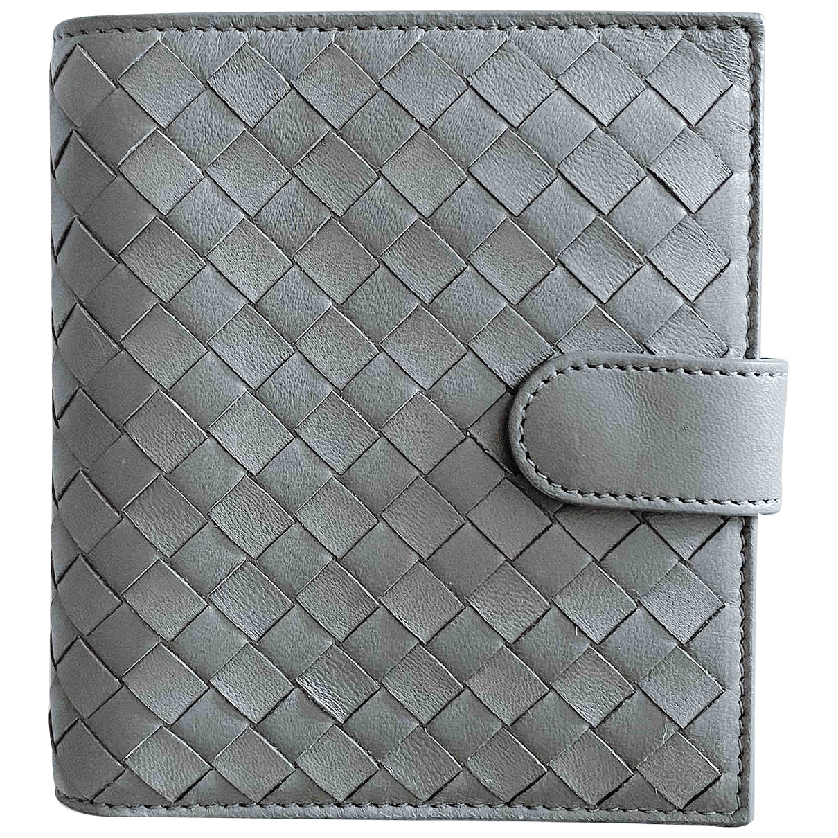 Bottega Veneta Intrecciato Grey Leather wallet for Women \N