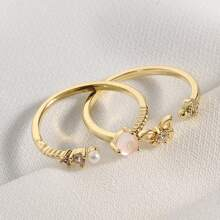 2pcs Butterfly Decor Ring