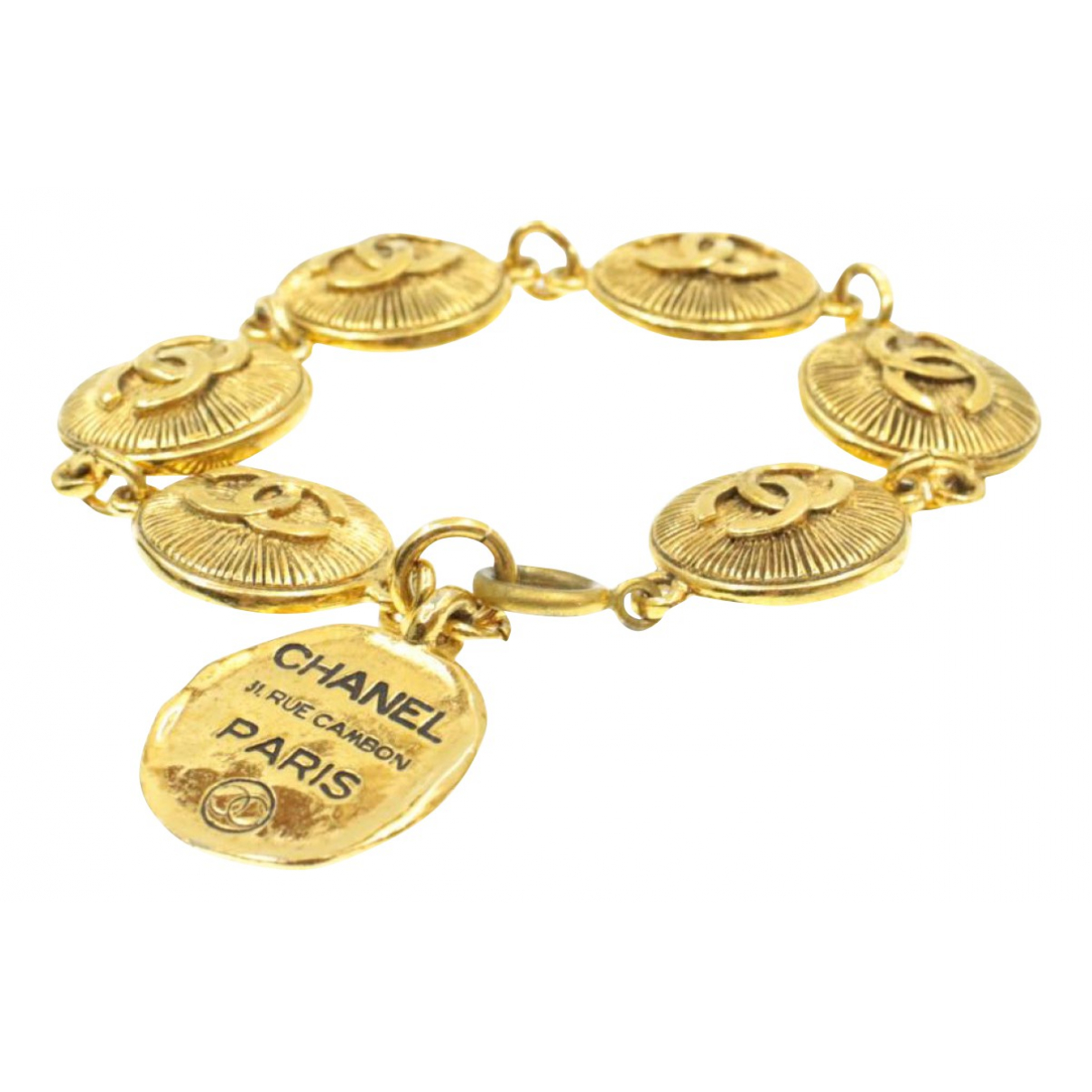 Chanel N Gold Gold plated bracelet for Women N