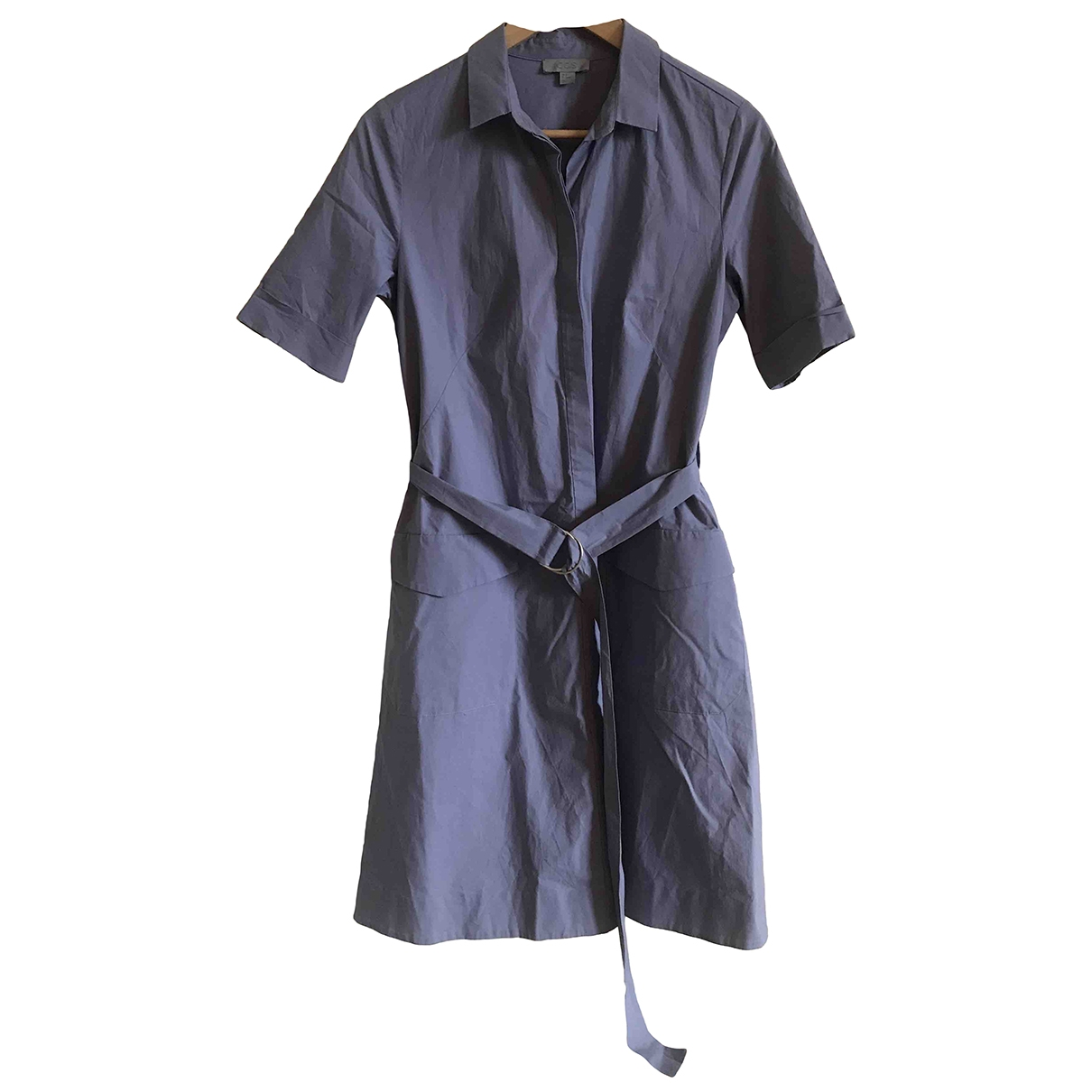 Cos \N Blue Cotton - elasthane dress for Women 4 US