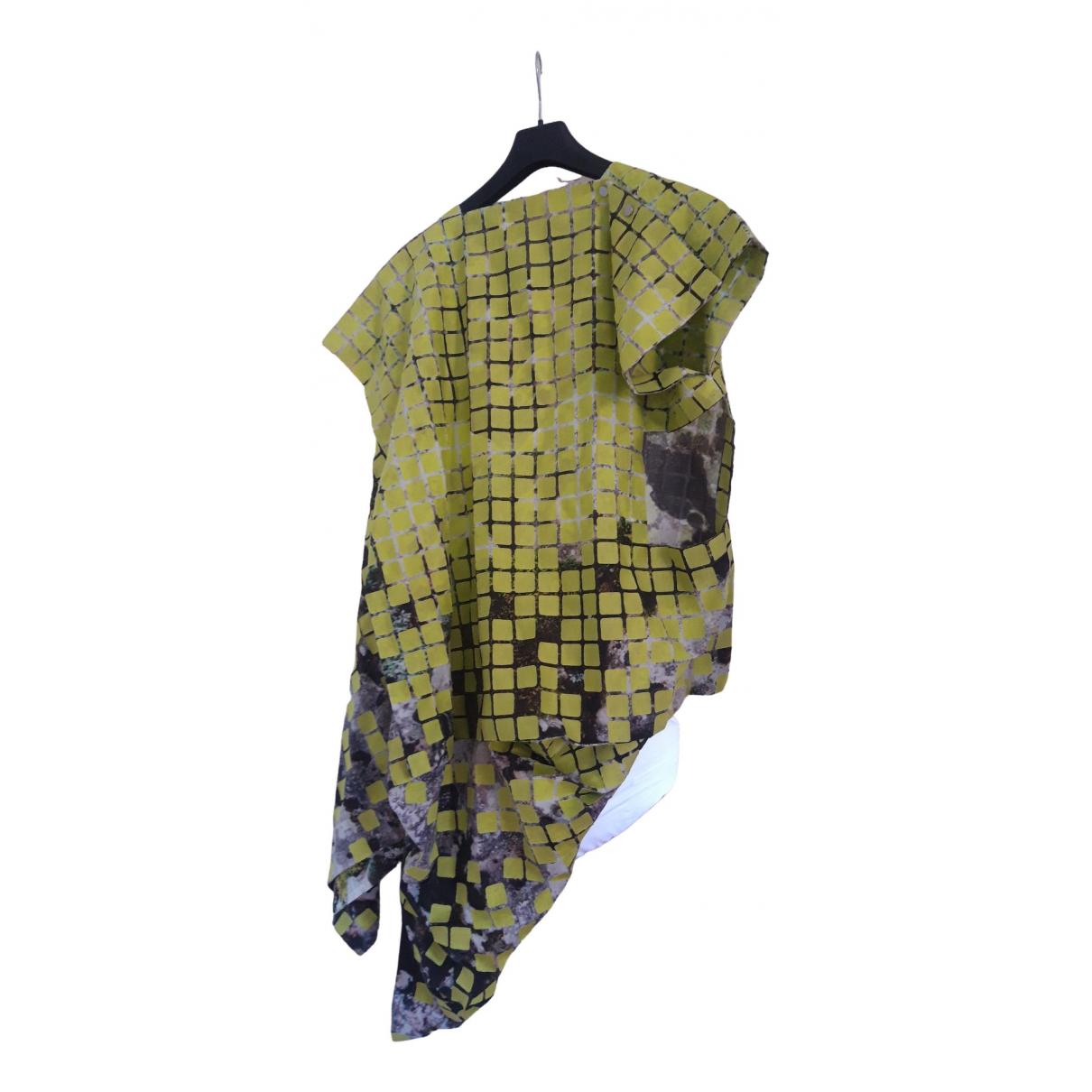 Issey Miyake \N Kleid in  Gruen Baumwolle