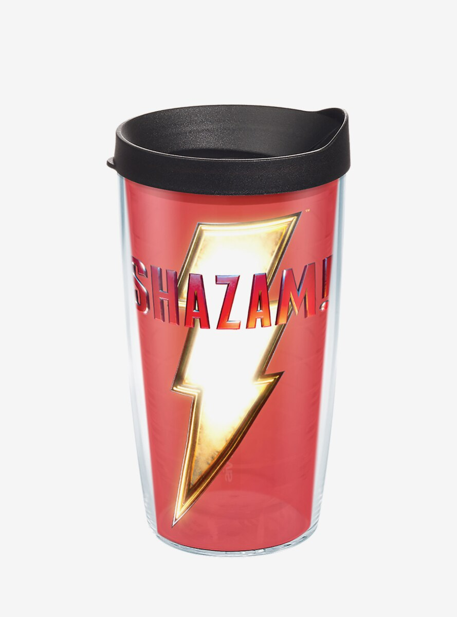 DC Comics Shazam Crest 16 oz Tumbler With Lid