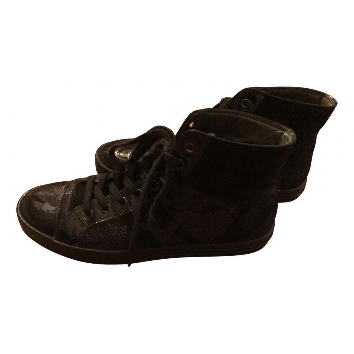 Hogan N Black Patent leather Trainers for Women 38 EU