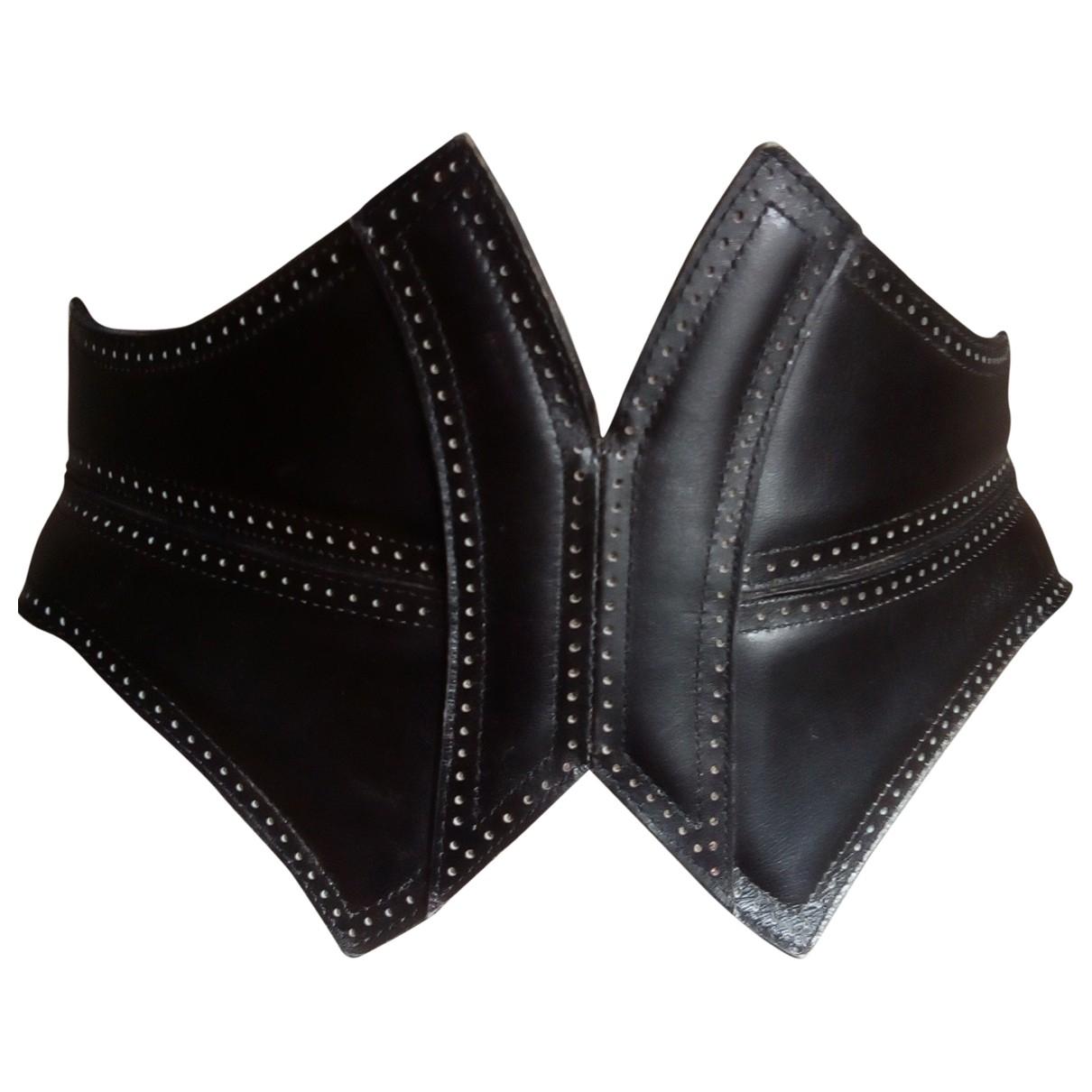 Alaïa \N Black Leather belt for Women XS International