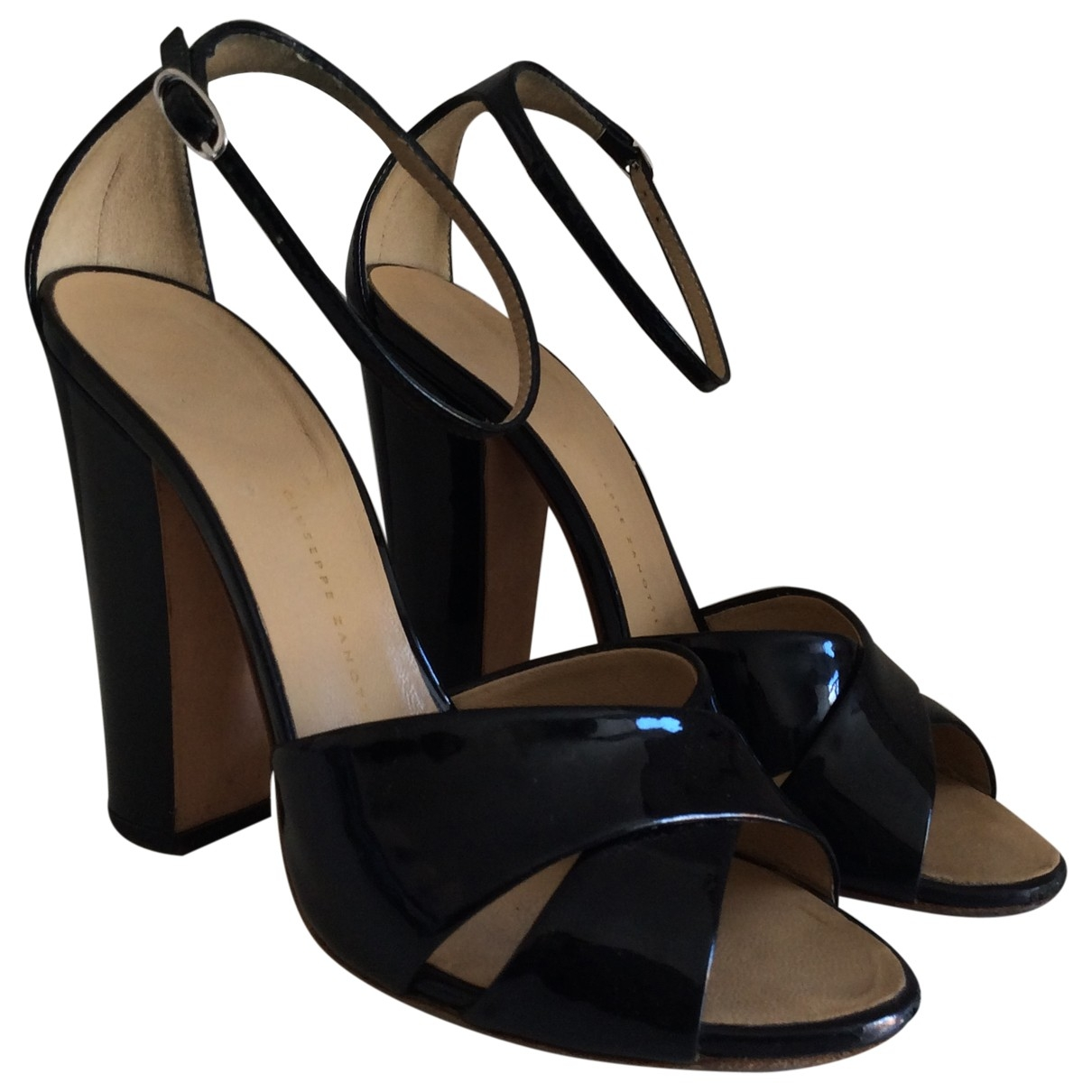 Giuseppe Zanotti \N Black Patent leather Sandals for Women 36 EU