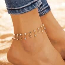 1pc Rhinestone Decor Bow Decor Anklet