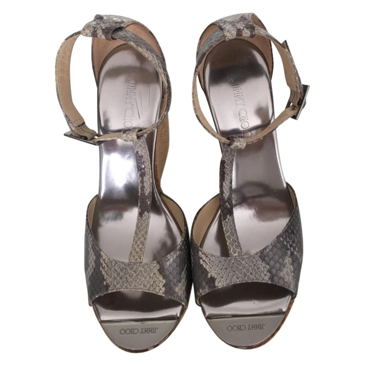 Jimmy Choo \N Leather Sandals for Women 37.5 EU