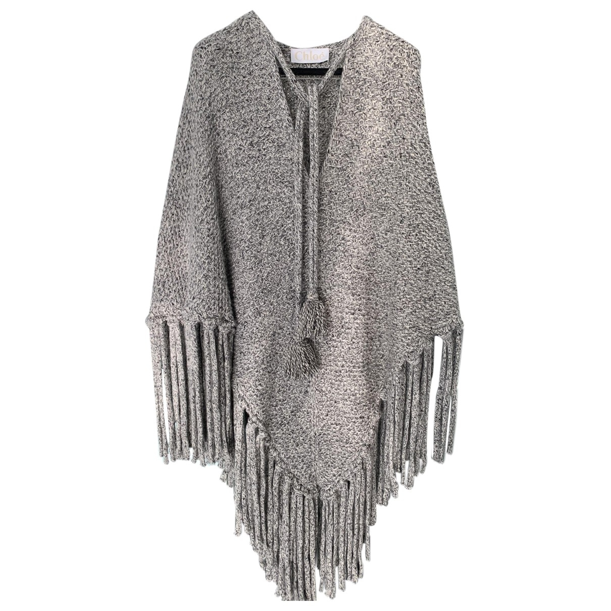 Chloe - Pull   pour femme en laine - gris