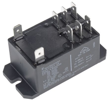 TE Connectivity , 24V dc Coil Non-Latching Relay DPDT, 30A Switching Current Flange Mount, 2 Pole