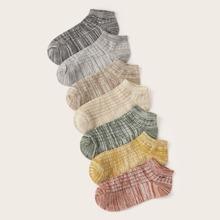 7 Paare gerippte Detail-Sockchen