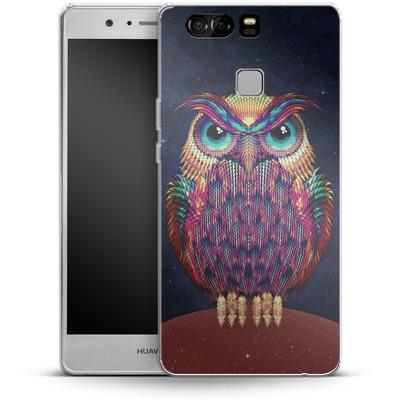 Huawei P9 Silikon Handyhuelle - Owl von Ali Gulec