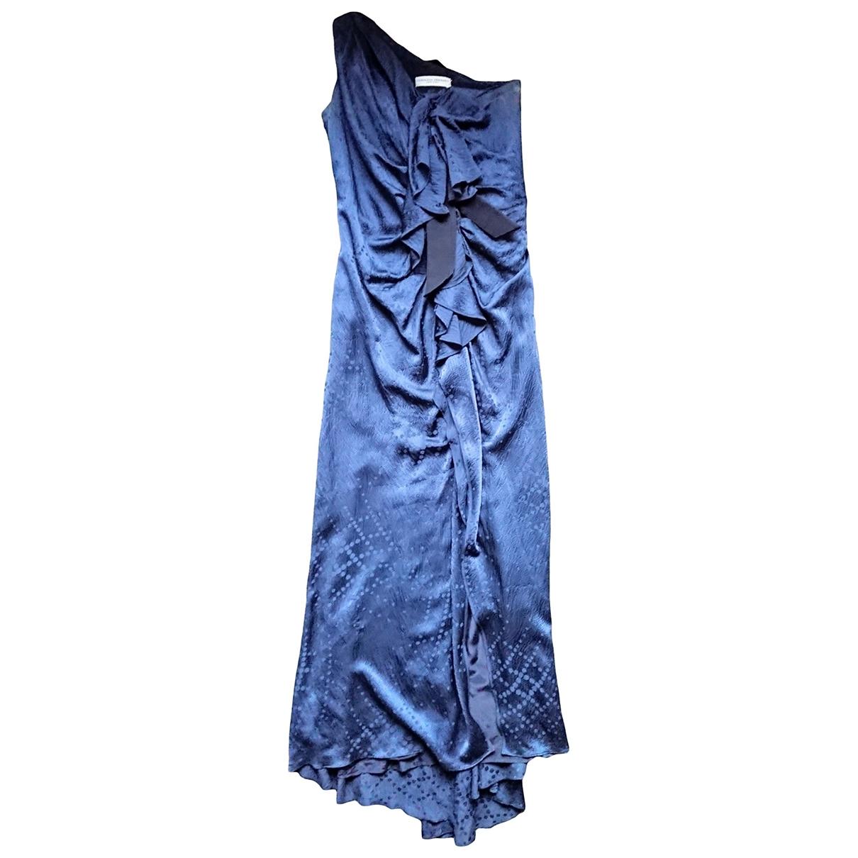 Carolina Herrera \N Kleid in  Blau Seide