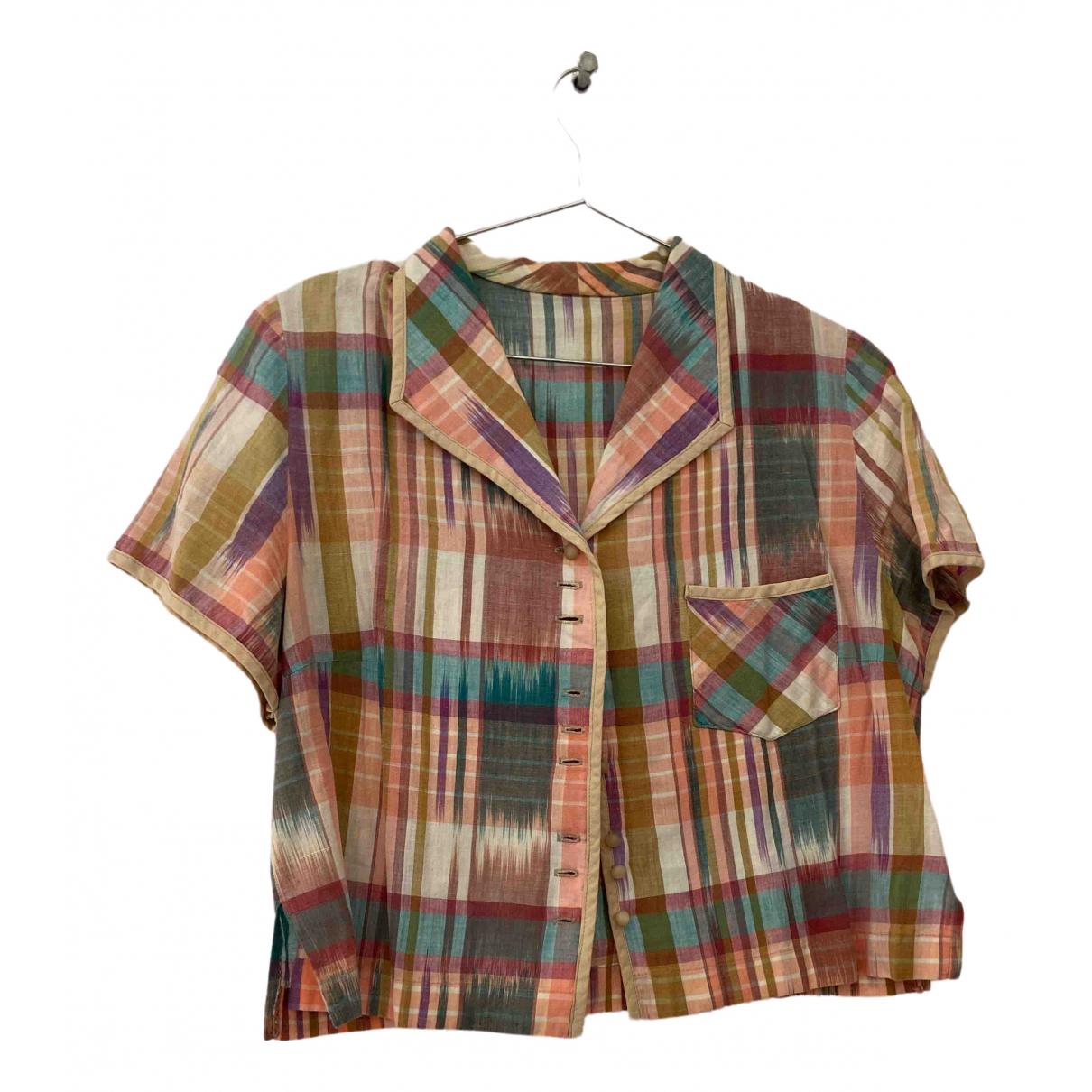 - Top Hippie Chic pour femme en coton - multicolore