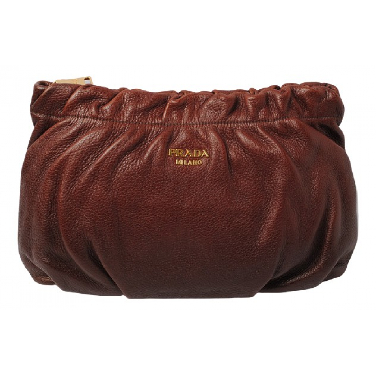 Prada \N Brown Leather Clutch bag for Women \N