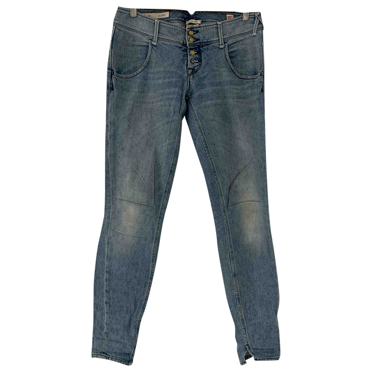 Cycle \N Blue Cotton - elasthane Jeans for Women 28 US