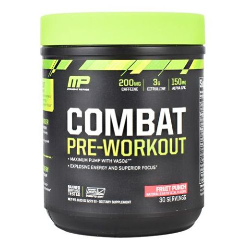 Combat Pre-Workout Fruit Punch 30 Servings by Muscle Pharm
