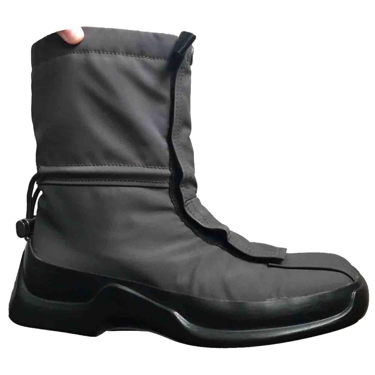 Prada N Black Cloth Boots for Women 38 EU