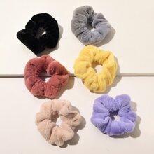 6pcs Plain Fluffy Scrunchie