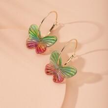 Ohrringe mit bunten Schmetterling Dekor