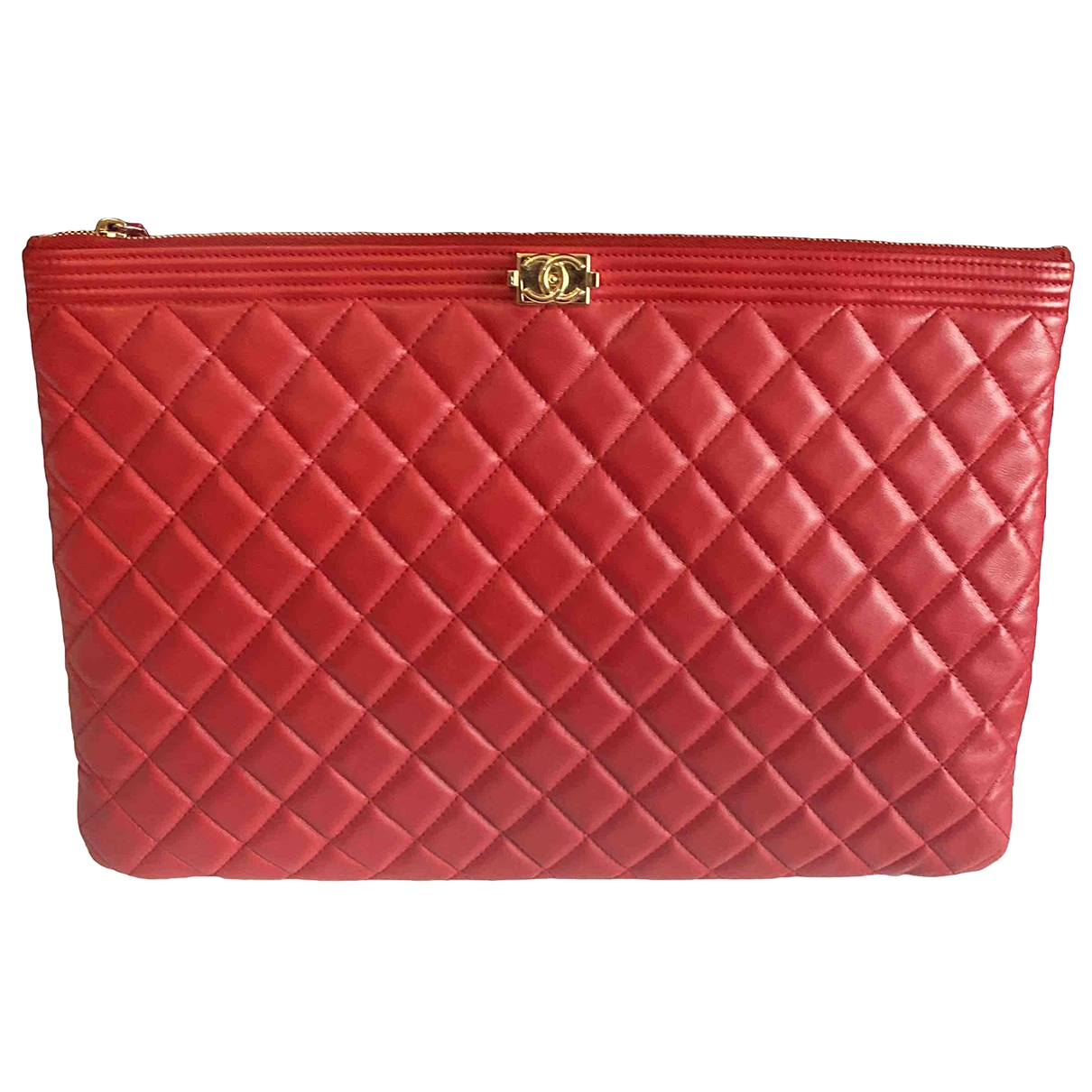 Chanel Timeless/Classique Red Leather Clutch bag for Women \N