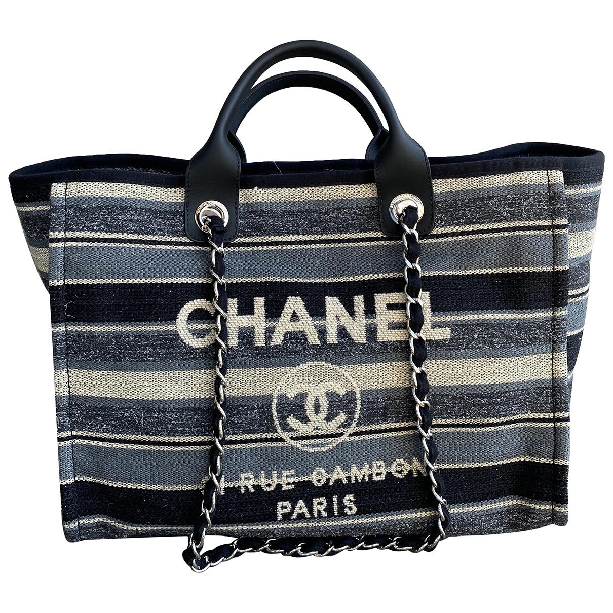 Chanel Deauville Blue Cloth handbag for Women N