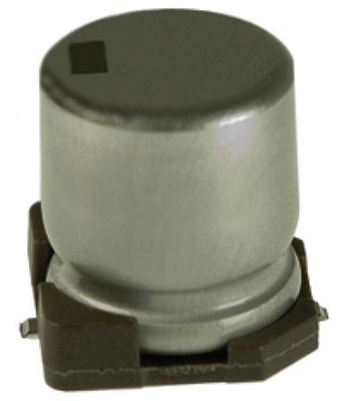 Nichicon 150μF Electrolytic Capacitor 25V dc, Surface Mount - UWD1E151MCL1GS (10)