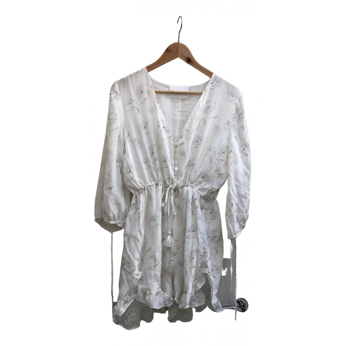 Athena Procopiou - Combinaison   pour femme en soie - blanc