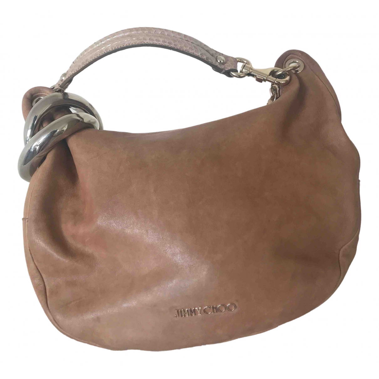 Jimmy Choo \N Handtasche in  Braun Leder